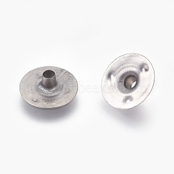 Base de mèche de bougie de fer, platine, 12.5x4mm, Trou: 2.5mm(IFIN-WH0074-01P)