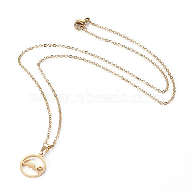 304 Stainless Steel Pendant Necklaces(NJEW-I237-07G)-2