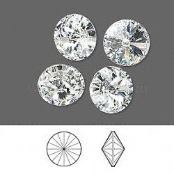 cristal autrichien cabochons de strass, 1122, Rivoli Chaton, facettes, déjouer retour, 001 _crystal, 6.14~6.32 mm(X-1122-SS29-F001)