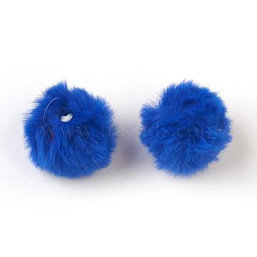 Blue Round Fibre Pendants
