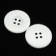 White Flat Round Resin Buttons(X-RESI-D033-20mm-01)-1