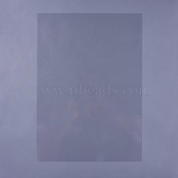 Inkjet&Laser Waterproof Transparency Film, Screen Printing Transfer Film, Clear, 42x29.7cm(AJEW-WH0098-25A)