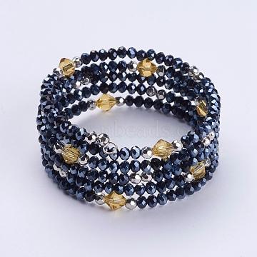 PrussianBlue Glass Bracelets