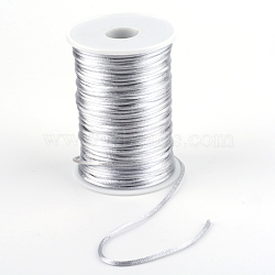 Polyester Cord, LightGrey, 2mm; about 80yards/roll(73.152m/roll)(NWIR-R001-6)