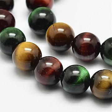 6mm Mixed Color Round Tiger Eye Beads
