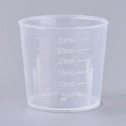 Tasse à mesurer en polypropylène (pp) de 50 ml, tasse graduée, effacer, 3.9x3.6 cm; capacité: 30 ml(TOOL-WH0021-49)