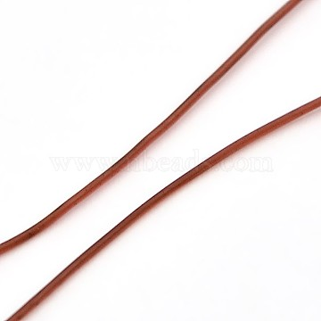 Korean Elastic Crystal Thread, Jewelry Beading Cords, Stretch Bracelet String, Round, Sienna, 0.8mm, about 1093.61 yards(1000m)/roll(EW-L001-B-07)