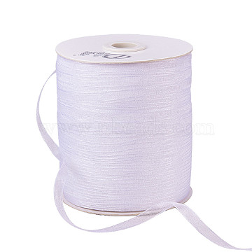 Organza Ribbon, White, 1/4 inch(6mm); 500yards/Roll(457.2m/Roll)(RS6mmY001)
