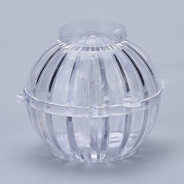 Plastic Candle Molds, for Candle Making Tools, Cactus Shape, Clear, 79x77.5x60.5mm, Hole: 25mm, Inner Diameter: 57mm(DIY-I035-07)
