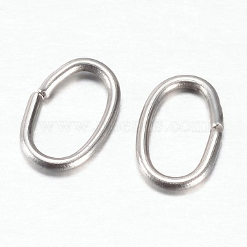 304 Stainless Steel Quick Link Connectors, Linking Rings, Oval, Stainless Steel Color, 7x4.5x0.8mm, Hole: 3x5mm(STAS-P171-71P)