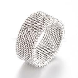 304 Stainless Steel Finger Ring Settings, Stainless Steel Color, 19mm(X-MAK-R010-19mm)