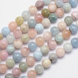 "Morganite naturelle chapelets de perles rondes, 10mm, trou: 1mm; environ 40 pcs/chapelet, 15.5""(G-I159-10mm)"