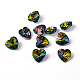 Faceted Heart Electroplated Glass Pendants(X-EGLA-R082-04)-1