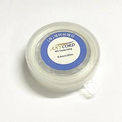 Korean Elastic Crystal String, Elastic Beading Thread, for Stretch Bracelet Making, Clear, 1mm, about 32.8 yards(30m)/roll(EW-G009-01-1mm)