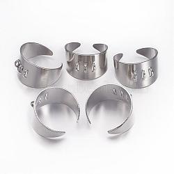 Tiges à anneau en laiton , réglable, platine, 17mm(KK-J114-P)