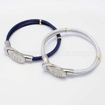 Mixed Color Imitation Leather Bracelets
