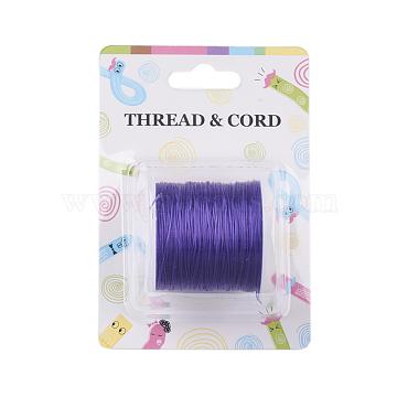 Fil de fibre élastique, blueviolet, 0.8 mm; 60 m / rouleau(X-EW-O001-01M)
