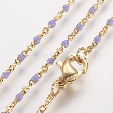 Lilac Stainless Steel Necklaces