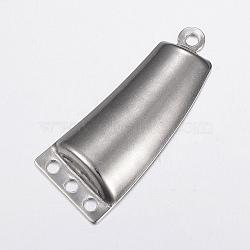 Liens de composants du lustre en 304 acier inoxydable, trapèze, couleur inoxydable, 43x18x4.5mm, Trou: 2.5mm(STAS-G172-70P)