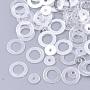 орнамент аксессуары диск пластиковые бусины блестка, блестки бисер, пончик, очистить, 6x0.2 mm, отверстия: 4 mm; о 30000 шт / 500 г