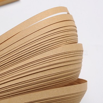 Quilling Paper Strips, Tan, 530x5mm; about 120strips/bag(DIY-J001-5mm-B21)