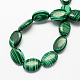 Flat Oval Synthetic Malachite Beads Strands(G-S113-28)-2