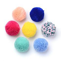 Artisanat de poupée bricolage, boule de pom pom de polyester / fil, rond, couleur mixte, 5.5~6.3 cm(AJEW-S063-6.0cm-M)