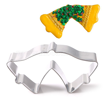 304 Stainless Steel Cookie Cutters, Cookies Moulds, DIY Biscuit Baking Tool, Bowknot, Stainless Steel Color, 45x96x18mm(DIY-E012-85)