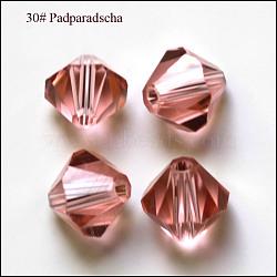 Perles d'imitation cristal autrichien, grade AAA, facette, Toupie, flamant, 8x8mm, Trou: 0.9~1mm(SWAR-F022-8x8mm-319)