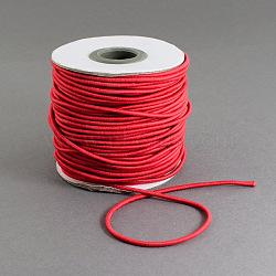Эластичный шнур круглого, с нейлоновым снаружи и резины внутри, красные, 1.2 мм; 100 м / рулон(EC-R001-1.2mm-019A)