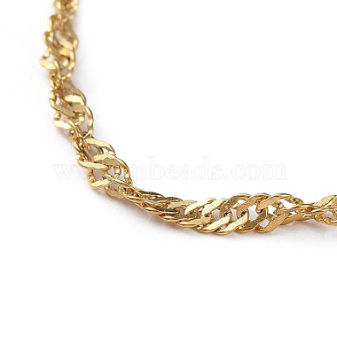 304 Stainless Steel Singapore Chains Necklaces(X-NJEW-JN02662-04)-2