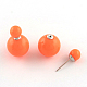 Double Sided Acrylic Ball Stud Earrings(EJEW-R104-01F)-1