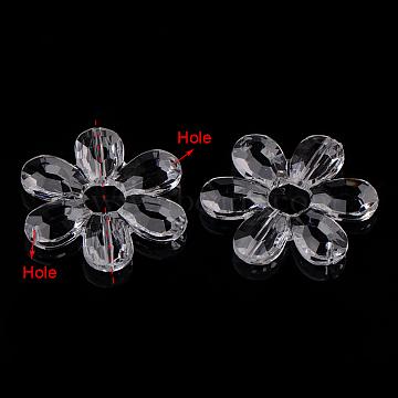 Clear Flower Acrylic Links