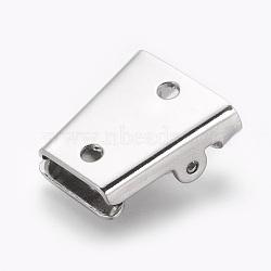 Fermoir cravate bolo en fer, pour la fabrication de cravate bolo, platine, 24x19x7.5mm, trou: 2.5 mm; diamètre intérieur: 2x13.5 mm(IFIN-J119-01B-P)