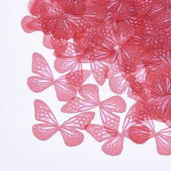 Tissu organza, pour la fabrication de bijoux de bricolage, papillon, rouge, 34x47.5mm(X-FIND-S317-10)