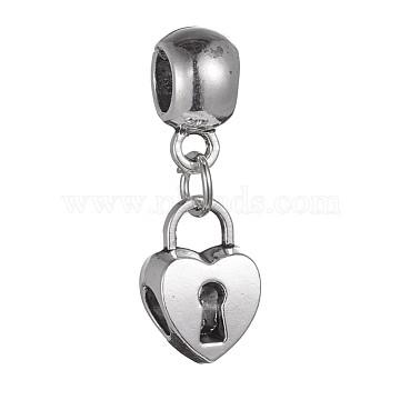 31mm Lock Alloy Dangle Beads