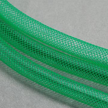 Plastic Net Thread Cord, Green, 4mm, 50Yards/Bundle(150 Feet/Bundle)(PNT-Q003-4mm-31)
