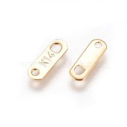 Onglets de chaîne en 304 acier inoxydable, connecteurs d'extension de chaîne, ovale, or, 10.5x3.5mm, trou: 1.2 mm et 1.5 mm(STAS-E460-01G)