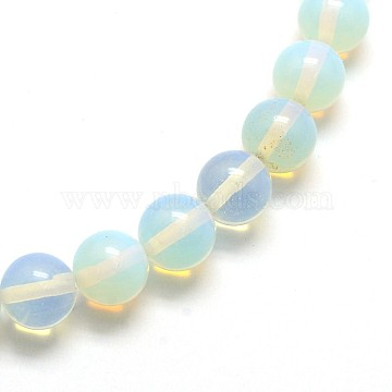 Opalite Round Beads Strands, 10mm, Hole: 1mm; about 39pcs/strand, 15inches(G-O047-08-10mm)