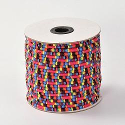 tissu de corde cordes ethniques, rouge, 4 mm; environ 50 verges / rouleau (150 pieds / rouleau)(OCOR-F003-4mm-09)