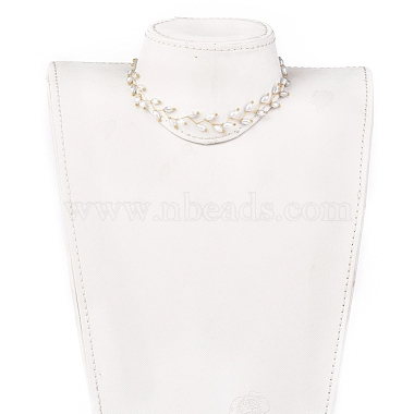 Electroplate Faceted Oval Glass Beaded Necklaces(NJEW-JN02625-02)-4