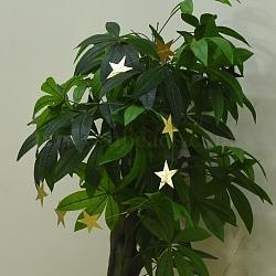 étoile de papier accrochant, pour la décoration de fête de mariage, or, 4 m; étoile: 100x100 mm(AJEW-WH0096-03B-01)