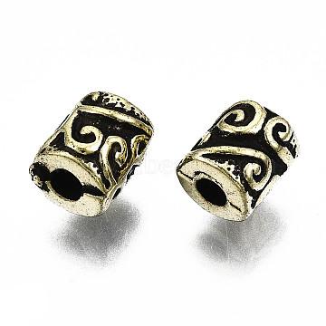 Antique Acrylic Beads, Column, Antique Bronze, 7x6mm, Hole: 2mm(X-PACR-Q085-12AB)