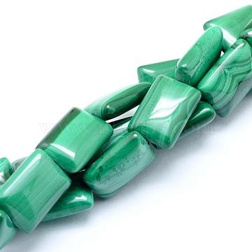 14mm Rectangle Malachite Beads