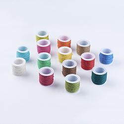 Cordon de chanvre mixte, chaîne de chanvre, ficelle de chanvre, pour la fabrication de bijoux, couleur mixte, 2mm; 10 m / rouleau (10.936 mètres / rouleau)(OCOR-A003-03)