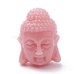 Perles de corail synthétiques, teint, Bouddha, lightsalmon, 15~16x12x12mm, Trou: 1.5mm(X-CORA-Q033-08G)