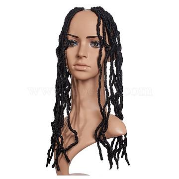 Bomb Twist Crochet Hair, Spring Twist Hair Prelooped Crochet Braids, Low Temperature Heat Resistant Fiber, Synthetic Twisted Hair Dreadlocks, Long & Curly Hair, Black, 18 inches(45.7cm), 21strands/pc(OHAR-G005-05A)