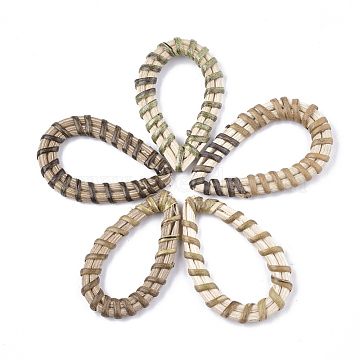 39mm Mixed Color Drop Rattan Linking Rings
