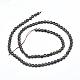 Natural Golden Sheen Obsidian Beads Strands(G-D0003-A34)-2