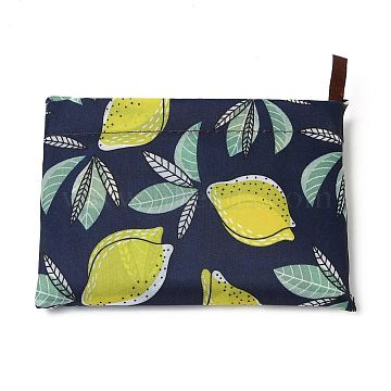 Foldable Eco-Friendly Nylon Grocery Bags, Reusable Waterproof Shopping Tote Bags, with Pouch and Bag Handle, Fruit Pattern, 52.5x60x0.15cm(ABAG-B001-27)